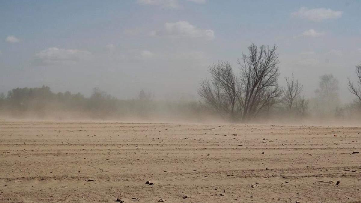 Пылевые бури становятся привычным явлением для Украины