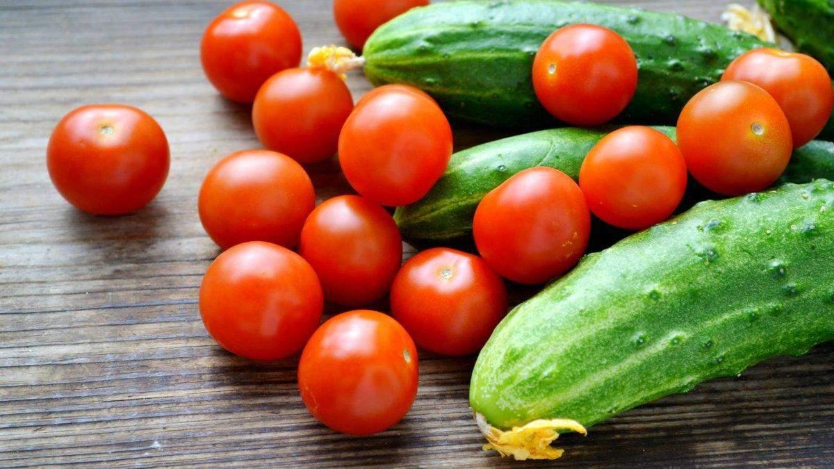 Імпортні огірки й помідори