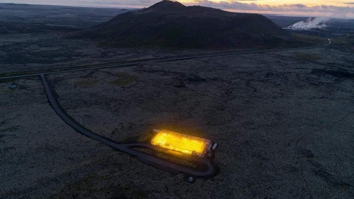 Геотермальная теплица в Исландии