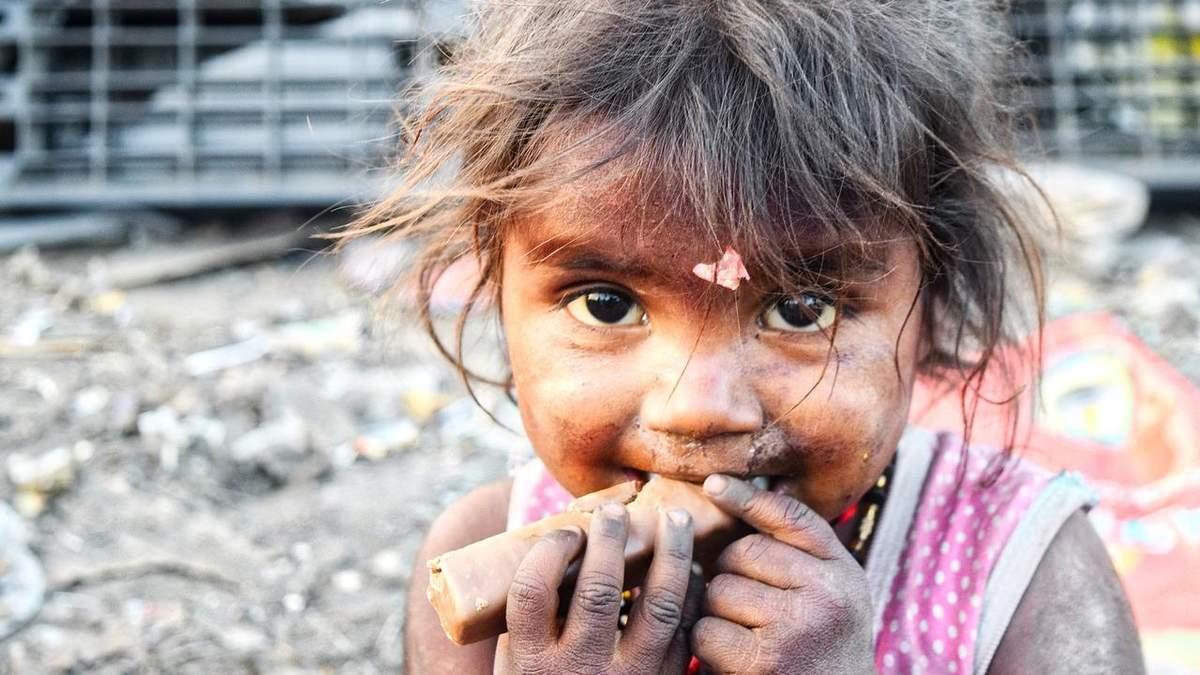 От голода страдают дети