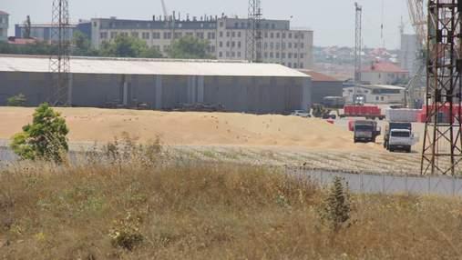 В порту окупованого Севастополя рясні опади заливають тонни зерна: фото