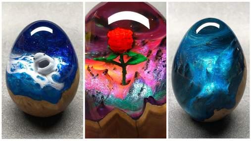 """Мережу вразили """"яйця драконів"""": справжні шедеври з дерева та смоли робить художник з Австралії"""