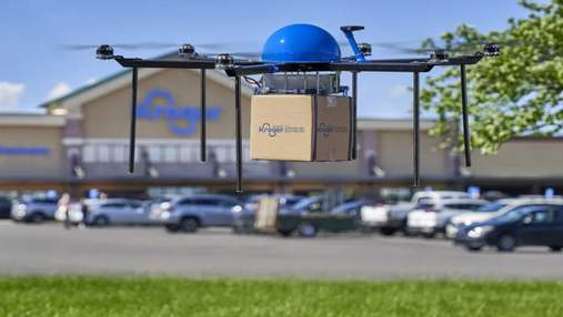 Американська мережа супермаркетів Kroger доставлятиме товари дронами